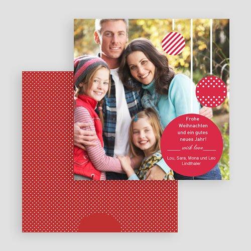 Weihnachtskarten Lametta gratuit