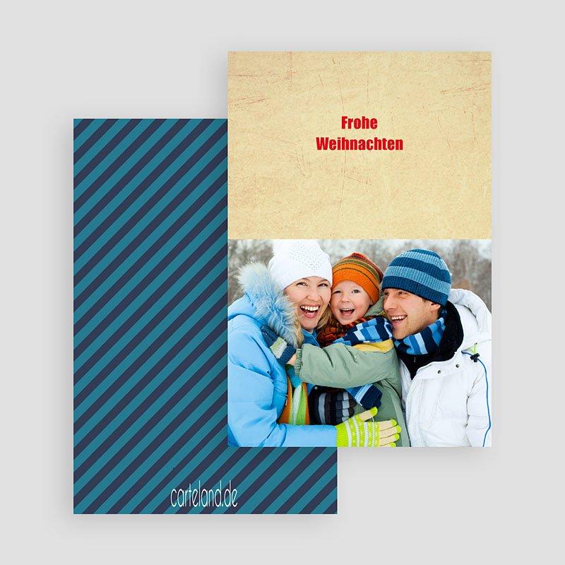 Weihnachtskarten Blauton gratuit