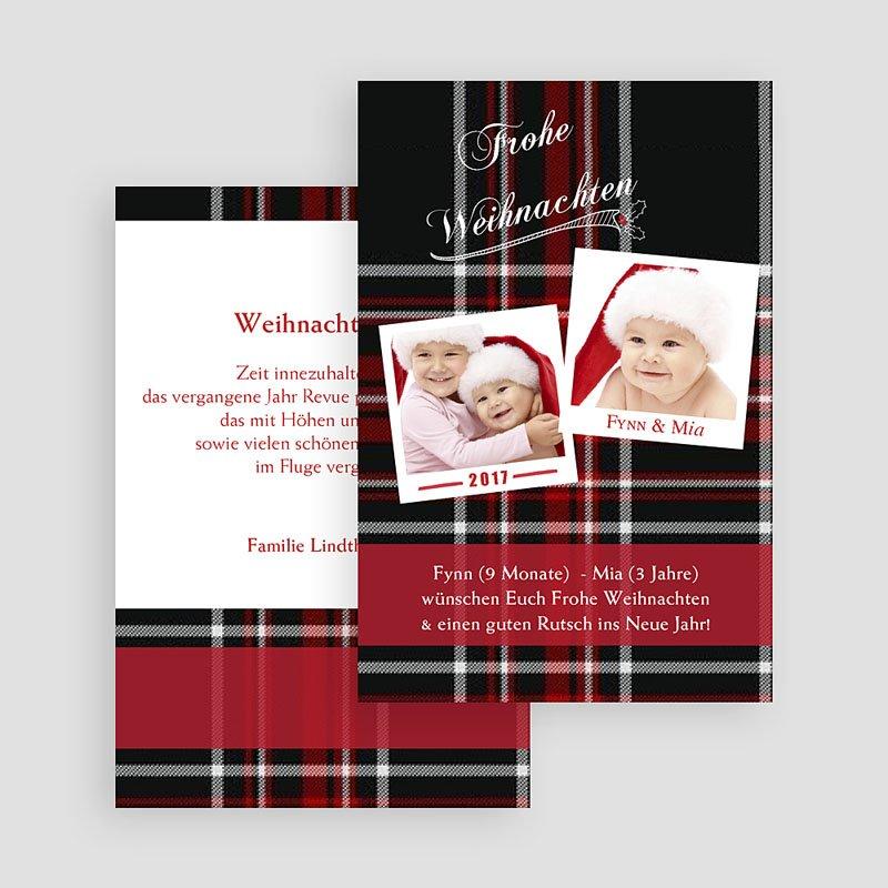 Weihnachtskarten Gewebtes Motiv gratuit