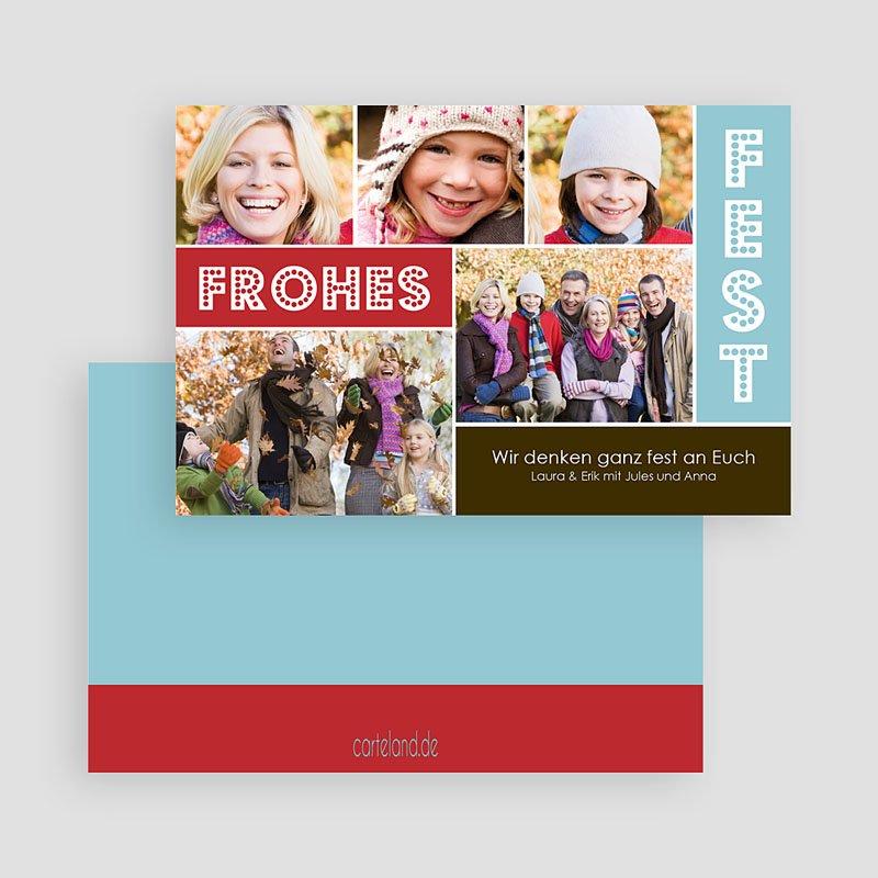 Weihnachtskarten Frohlocken gratuit