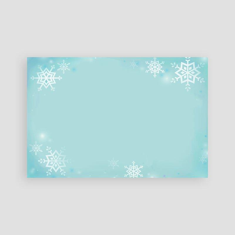 Weihnachtskarten Schneeflöckchen pas cher