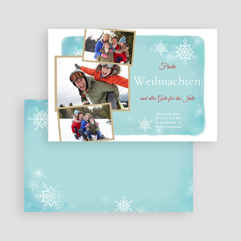 Weihnachtskarten Schneeflöckchen gratuit