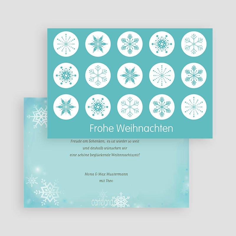 Weihnachtskarten Schneekristalle gratuit