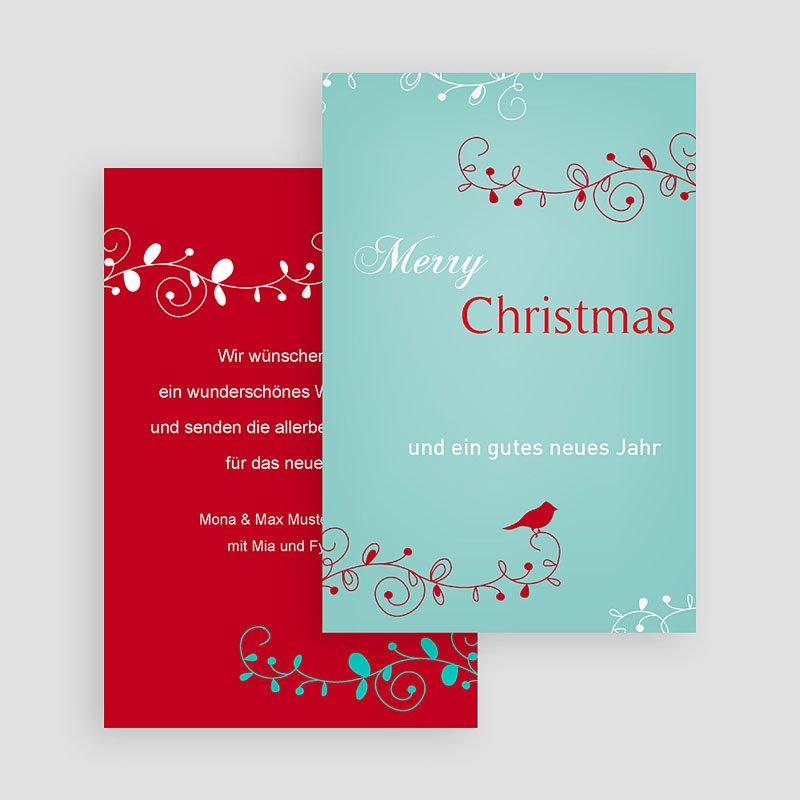 Weihnachtskarten Vöglein gratuit