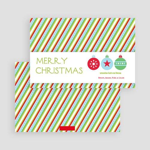 Weihnachtskarten Streifendesign gratuit