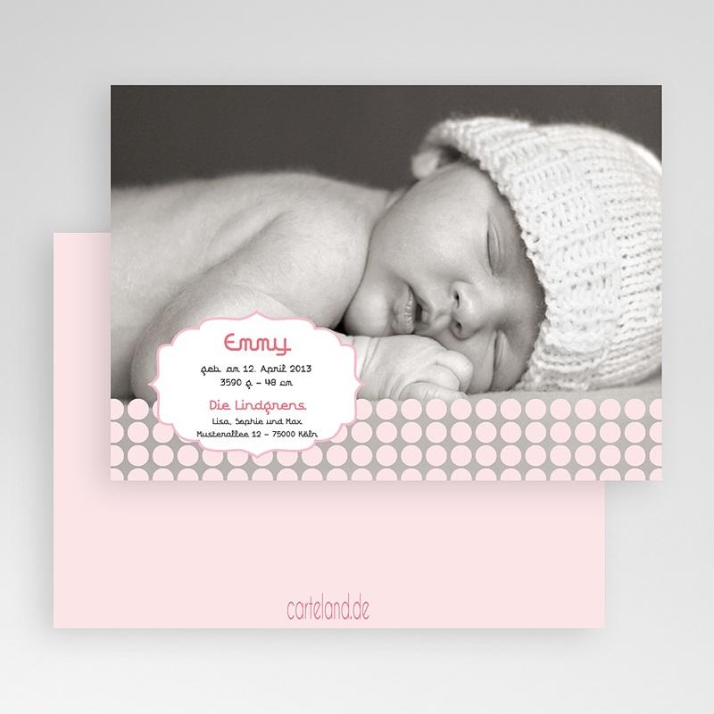 Geburtskarten für Mädchen Samtweich gratuit