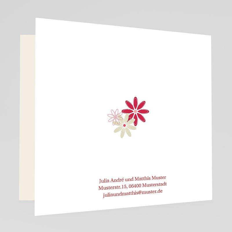 Rot-Weiss Hochzeitseinladungen Blumenfeld gratuit