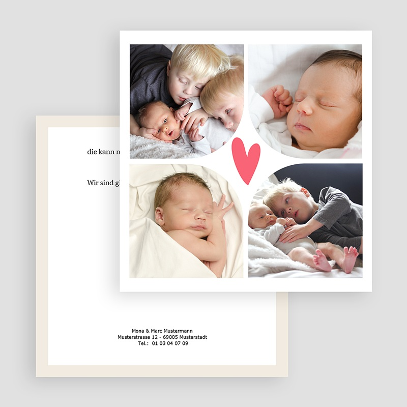 Geburtskarten für Mädchen Multi foto 2 gratuit