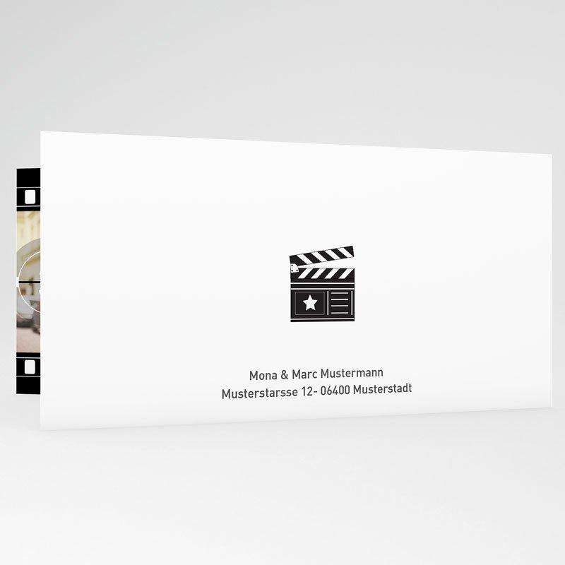 Schwarz-Weiß Hochzeitseinladungen Film ab gratuit