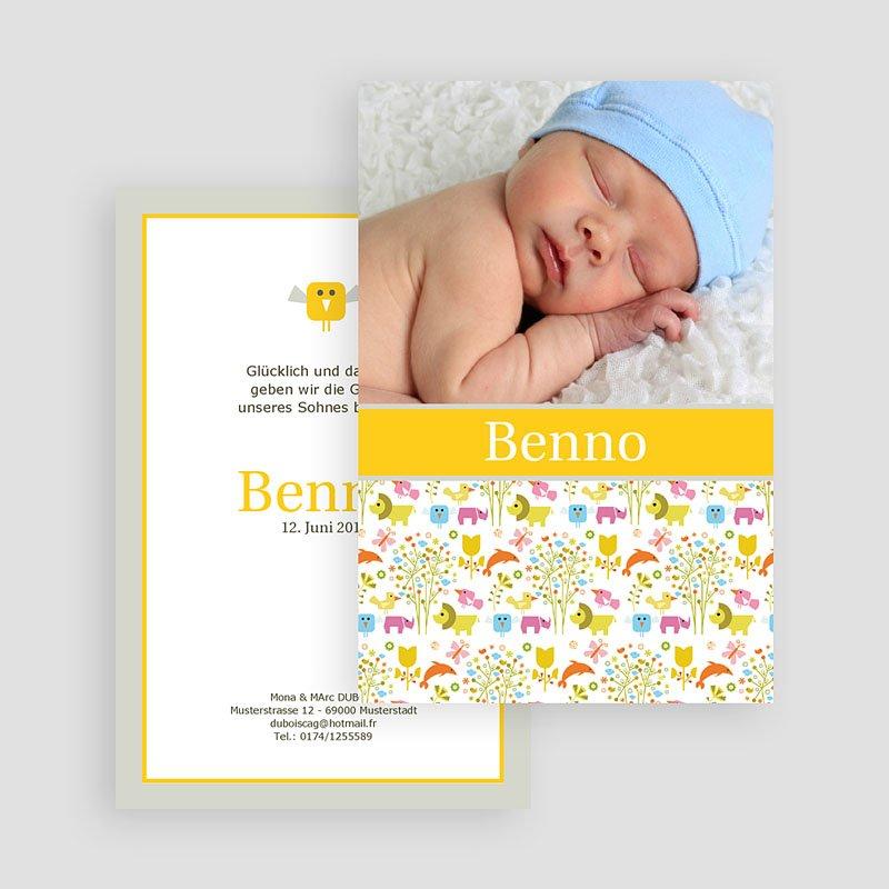 Geburtskarten für Jungen Savanne gratuit