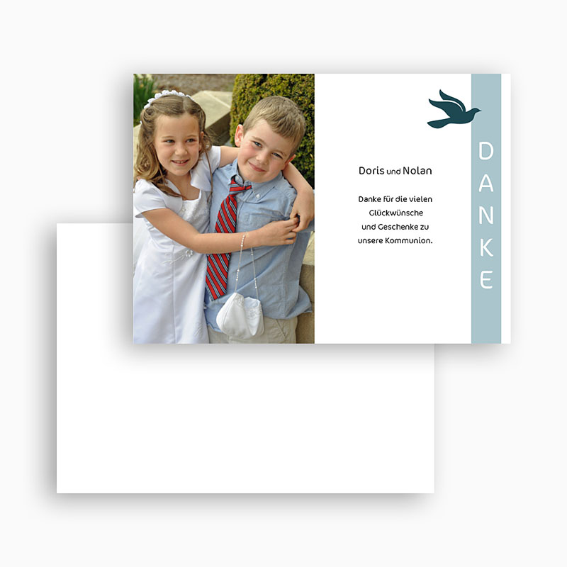 Dankeskarten Kommunion Jungen - Leo 20082 thumb