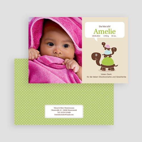 Geburtskarten für Mädchen Schildkrötenbande gratuit