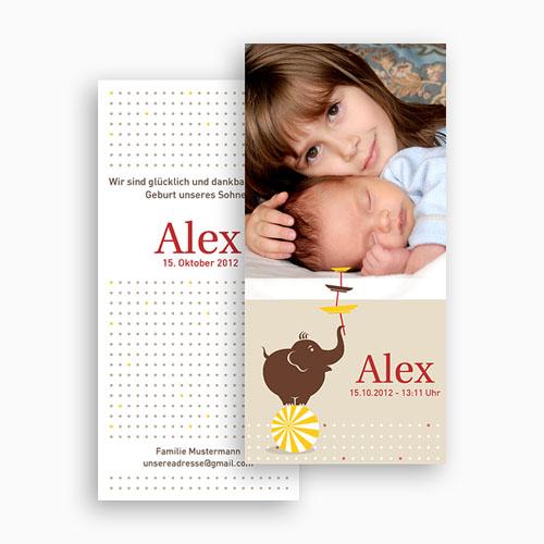 Geburtskarten für Mädchen - Zirkus 20120 test