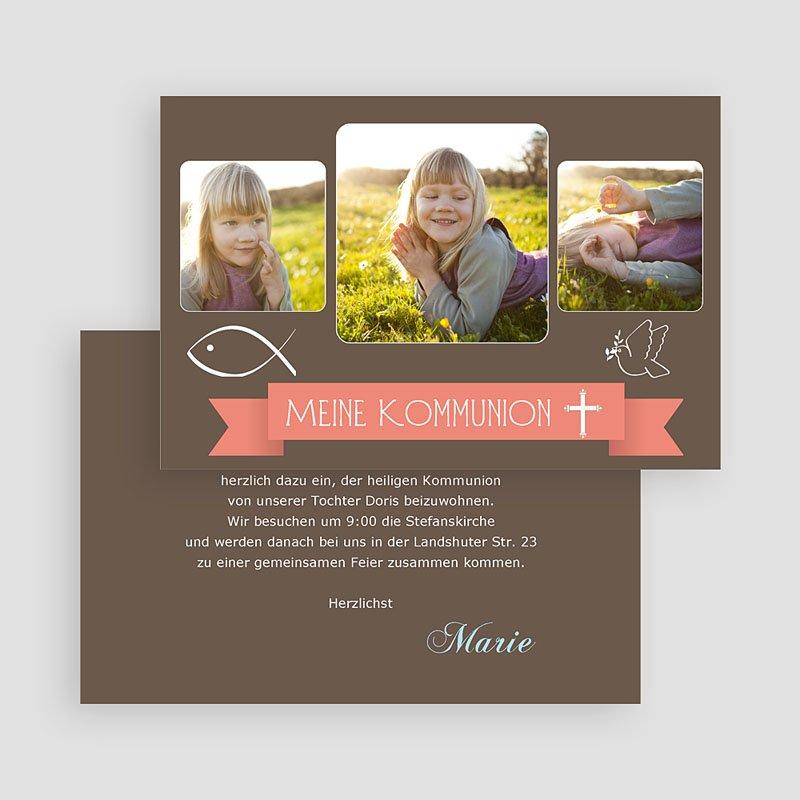 Einladungskarten Kommunion Jungen - Schlichtes Design 20123 thumb