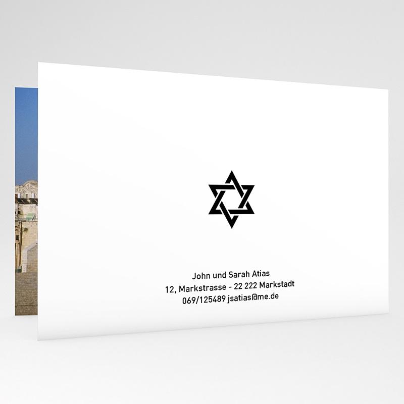 Einladungskarten Bar Mitzwah Sabbat gratuit