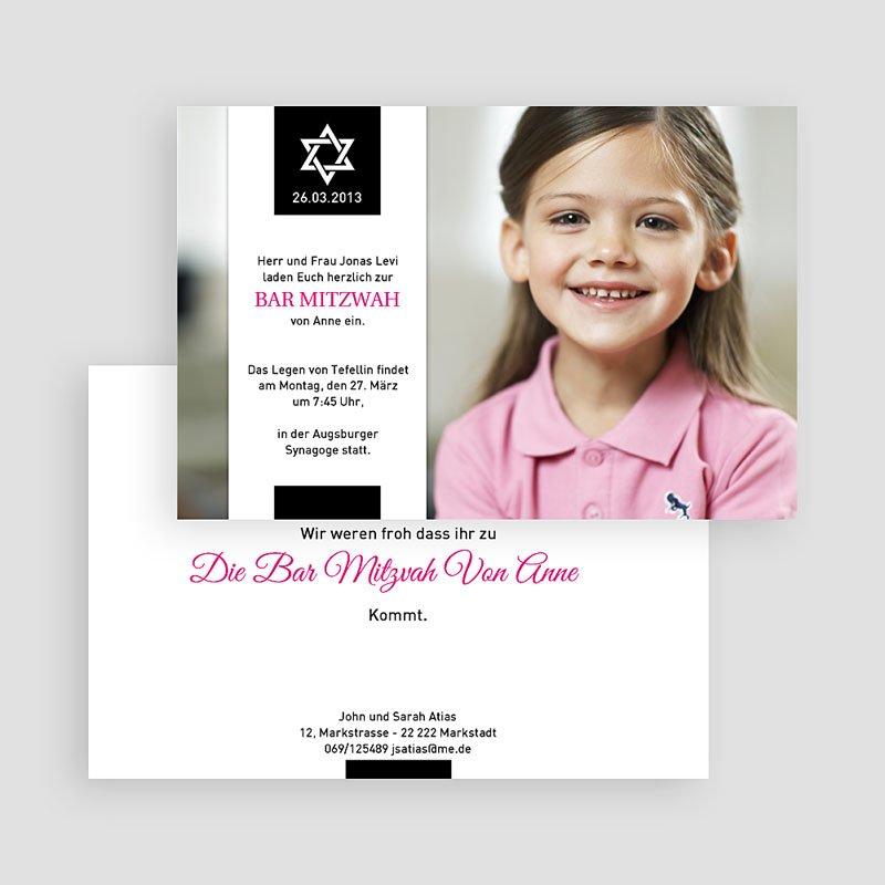 Einladungskarten Bar Mitzwah Elias gratuit