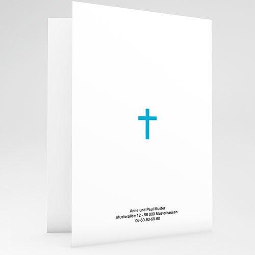 Einladungskarten Kommunion Mädchen -  Ornament Blau 20162 preview