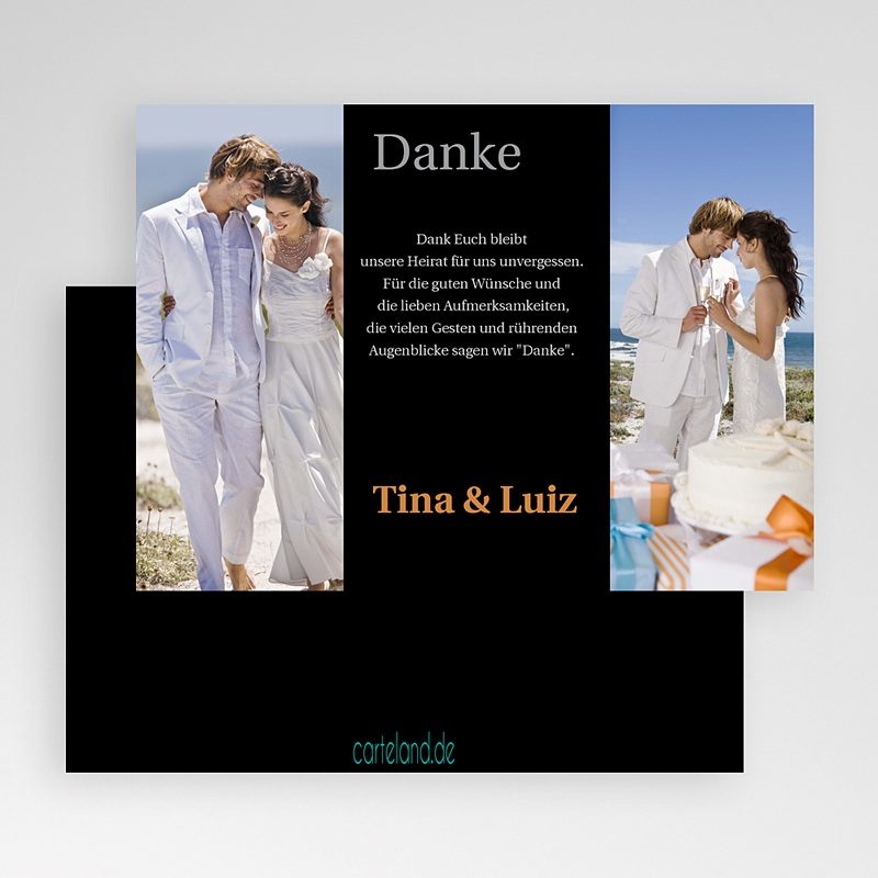 Danksagungskarten Hochzeit  Rom gratuit