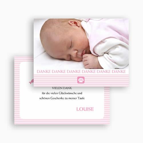 Dankeskarten Taufe Mädchen - Sarah 20258 test