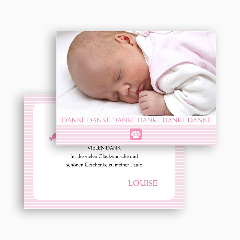 Dankeskarten Taufe Mädchen - Sarah 20258 thumb