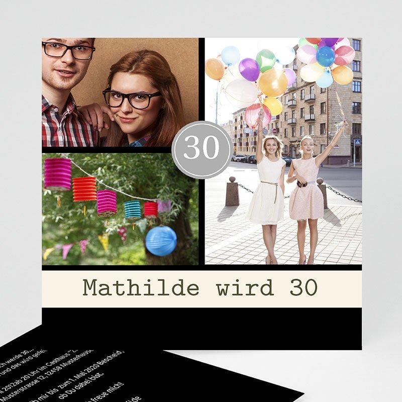 Erwachsener Einladungskarten Geburtstag Modern