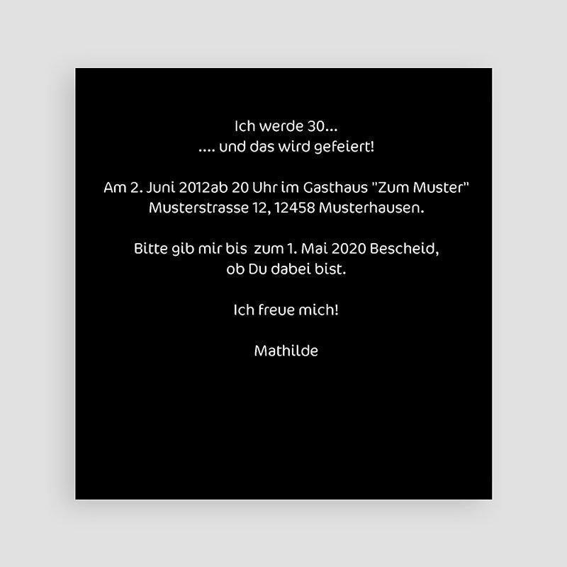 Erwachsener Einladungskarten Geburtstag Modern pas cher