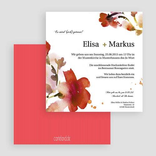 Einladungskarten Hochzeit  - Aquarelle 20378 test