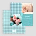Dankeskarten Geburt für Jungen Tweed Boy gratuit
