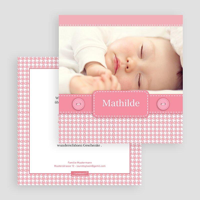 Geburtskarten für Mädchen Mathilde gratuit