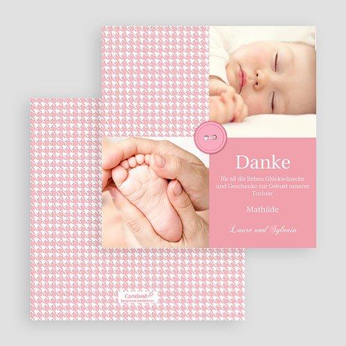 Dankeskarten Geburt Mädchen - Tweed Girl 20387 preview