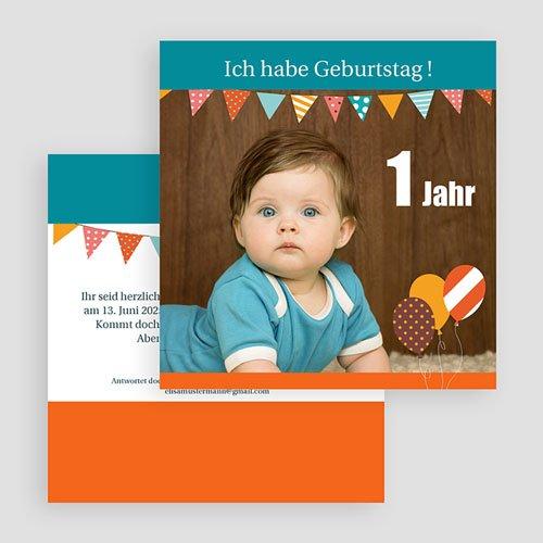 Einladungskarten Geburtstag Jungen Wimpel gratuit