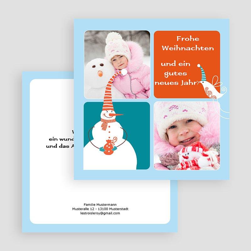 Weihnachtskarten Schneemann gratuit