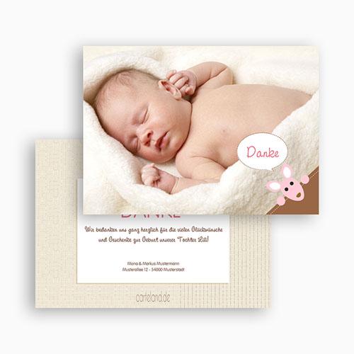 Dankeskarten Geburt Mädchen - Zoe 20410 test