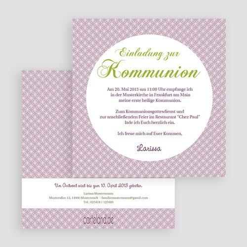 Einladungskarten Kommunion Mädchen - Ornament 20415 preview