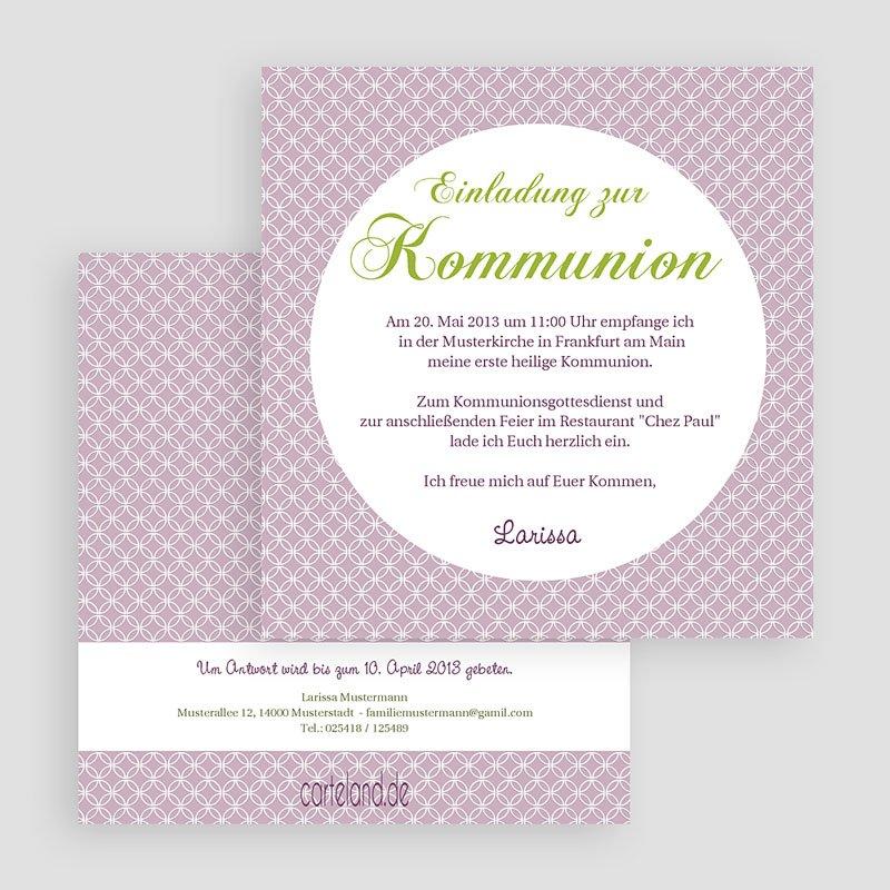 Einladungskarten Kommunion fur Mädchen Ornament gratuit