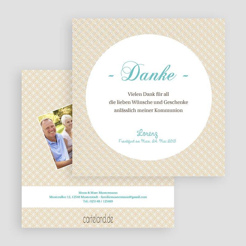 Dankeskarten Kommunion Jungen Schlichtes Design gratuit