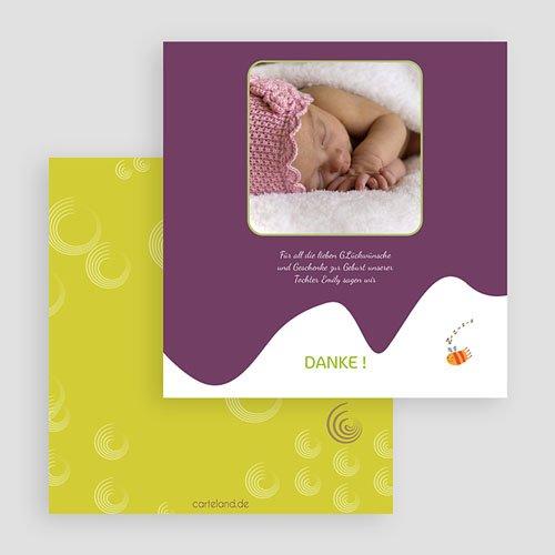 Dankeskarten Geburt Mädchen - Vogelnest 20429 preview