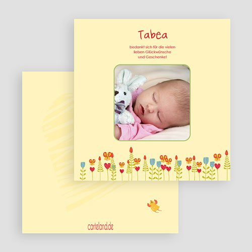 Dankeskarten Geburt Mädchen - Fantasie 20434 preview