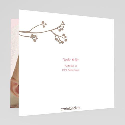 Geburtskarten für Mädchen Pip Pip- Rosa gratuit