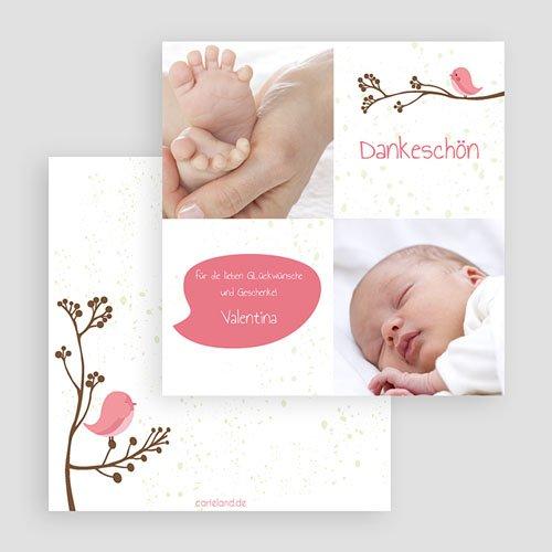Dankeskarten Geburt für Mädchen Piep Piep gratuit