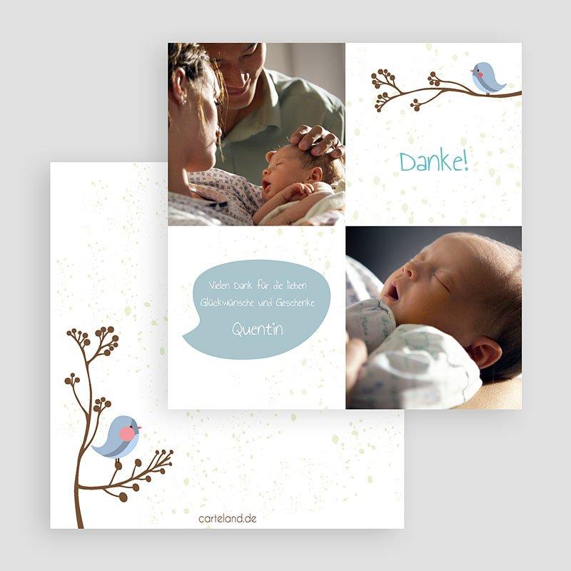 Dankeskarten Geburt für Jungen Spatzen gratuit