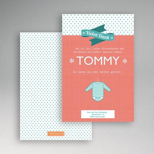 Dankeskarten Geburt Jungen - Tommy 20447 preview