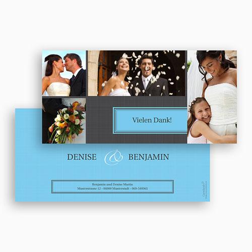 Dankeskarten Hochzeit - Tour 20458 test