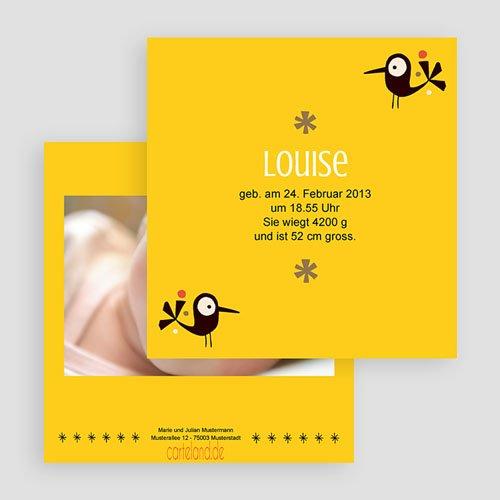 Geburtskarten für Mädchen Piep Piep gratuit