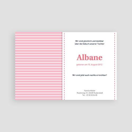 Geburtskarten für Mädchen Streifendesign pas cher