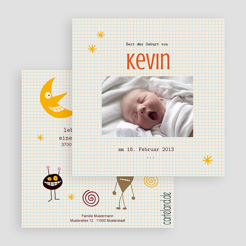 Geburtskarten für Jungen Michael gratuit