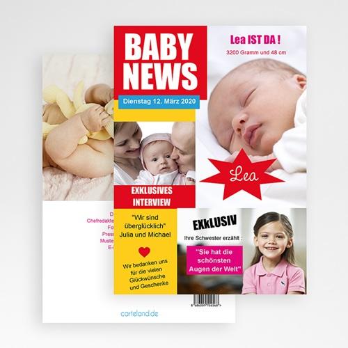 Geburtskarten für Mädchen - Baby News 20485 preview