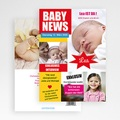 Geburtskarten für Mädchen - Baby News 20485 thumb