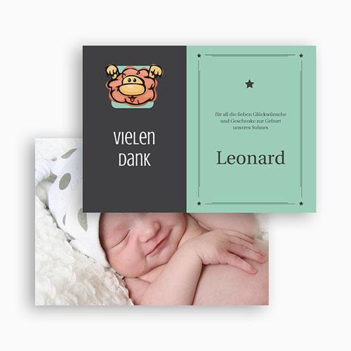 Dankeskarten Geburt Mädchen - Sternzeichen Löwe 20488 test