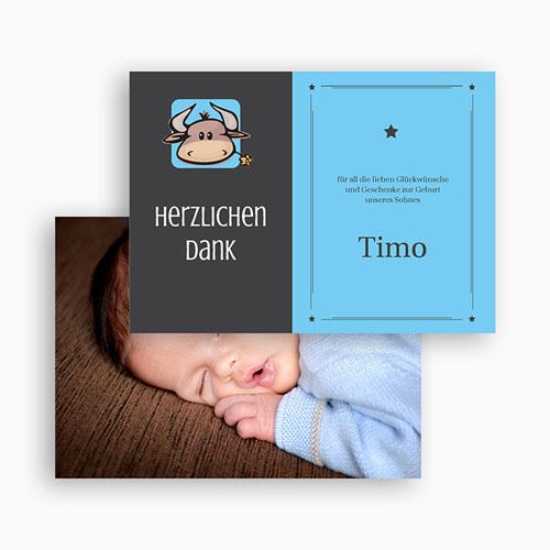 Dankeskarten Geburt Mädchen - Sternzeichen Stier 20489 preview